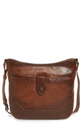 Frye Melissa Button Crossbody Bag Brown Dark Brown
