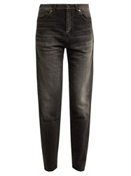 Saint Laurent Mid Rise Cotton Boyfriend Jeans Black