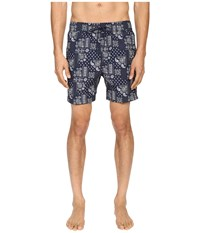 Jack Spade Bandana Grannis Swim Trunks Navy