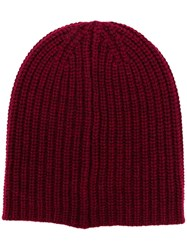 Alex Mill Ribbed Knit Beanie Red