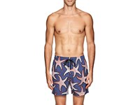 Vilebrequin Mahina Starfish Print Swim Trunks Blue