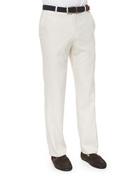 Peter Millar Durham High Drape Performance Pants Stone Finished Hem Khaki