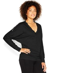 Rachel Rachel Roy Dolman Sleeve Shoulder Zipper Tee