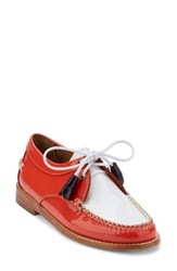 G.H. Bass Women's And Co. 'Winnie' Leather Oxford Poppy White Leather