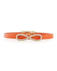 Fragments For Neiman Marcus Fragments Skinny Leather Infinity Bracelet Orange