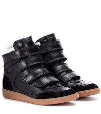 Isabel Marant Bilsy Leather Sneakers Black