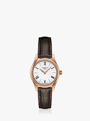 Tissot T0630093601800 'S T Classic Tradition 5.5 Leather Strap Watch Brown Gold