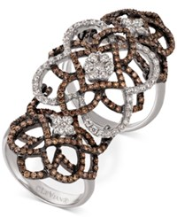 Le Vian Chocolatier Diamond Knuckle Ring 2 Ct. T.W. In 14K White Gold