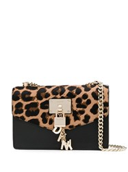 Dkny Leopard Print Cross Body Bag Neutrals