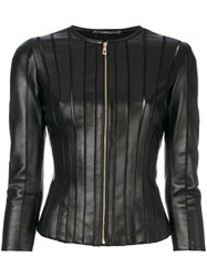 Versace Collection Panelled Fitted Jacket Black