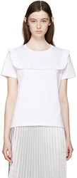 J.W.Anderson White Frill T Shirt