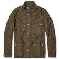 Barbour International Ariel Quilt Green