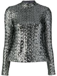 Alexis Sequinned Top Silver