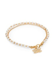 Astley Clarke Biography White Agate And Diamond Lotus Beaded Friendship Bracelet Gold White