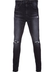 Monkey Time Distressed Skinny Jeans Black