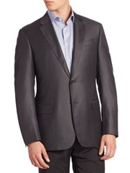 Armani Collezioni Houndstooth Wool Jacket Black