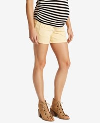 Motherhood Maternity Denim Shorts Yellow