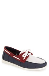 Men's Swims 'Boat' Loafer Navy Red