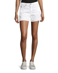 Ag Jeans Hailey Mid Rise Denim Shorts White