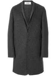 Chalayan Hybrid Coat Viscose Cashmere Virgin Wool Grey