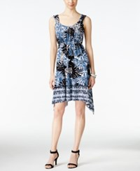 Styleandco. Style And Co. Printed Handkerchief Hem Dress Only At Macy's Summer Palms