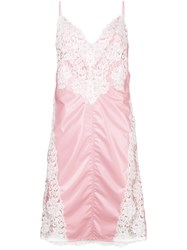 Calvin Klein 205W39nyc Lace Panel Slip Dress Pink And Purple