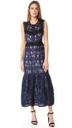 Three Floor Bloom Dress Navy Lilac