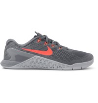 Nike Training Metcon 3 Mesh And Rubber Sneakers Gray