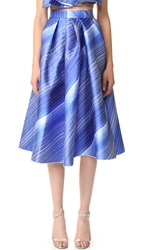 Vika Gazinskaya Pleated Bell Shaped Skirt Blue White
