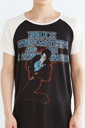 Trunk Ltd Bruce Springsteen Short Sleeve Raglan Tee Black And White
