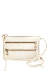 Hobo Mission Leather Crossbody Bag White Magnolia