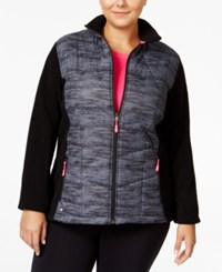 Ideology Plus Size Space Dyed Fleece Jacket Only At Macy's Noir Space