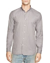 Marc Jacobs Stripe Torn Collar Slim Fit Button Down Shirt Night Combo