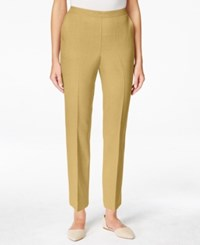 Alfred Dunner Pull On Straight Leg Ankle Pants Almond