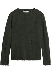 Bailey 44 Cinderella Distressed Wool Blend Sweater Army Green