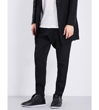 Isabel Benenato Loose Fit Tapered Linen Trousers Black