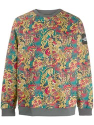 The North Face Baroque Print Sweater Yellow