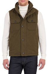 Rainforest Men's Water Resistant Down Vest With Stowaway Hood Military