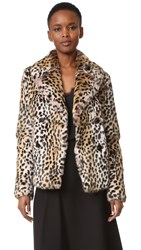 Yves Salomon Rabbit Fur Leopard Jacket