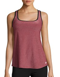 New Balance Glitter Racerback Tank Top Deep Jewel Black