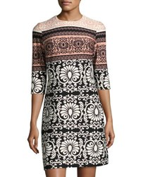 Taylor Scroll Print Scuba Shift Dress Multi Pattern