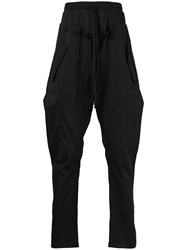 Lost And Found Ria Dunn Double Waist Trousers Cotton Silk Black