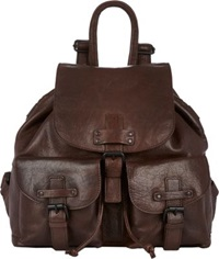 Barneys New York Flap Front Backpack Brown