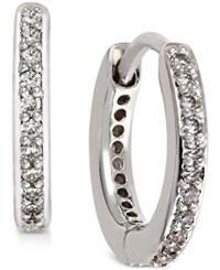 Eliot Danori Silver Tone Crystal Pave Huggy Hoop Earrings Is There I Know Only At Macy's