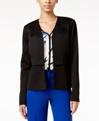Alfani Collarless Open Front Blazer Only At Macy's Deep Black