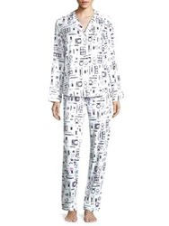 Saks Fifth Avenue Collection Printed Pajama Set Cosmetics