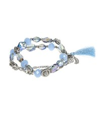 Lonna And Lilly Stretch Style Beaded Bracelet Blue