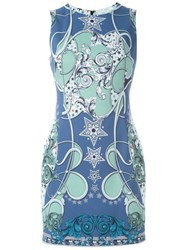 Versace Collection Baroque Print Mini Dress Multicolour