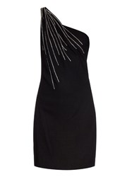 Saint Laurent Embellished Wool Crepe Dress