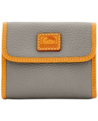 Dooney And Bourke Patterson Small Credit Card Flap Wallet Taupe